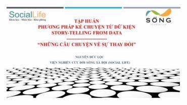 Viện SocialLife tập huấn phương pháp kể chuyện từ dữ kiện (StoryTelling)